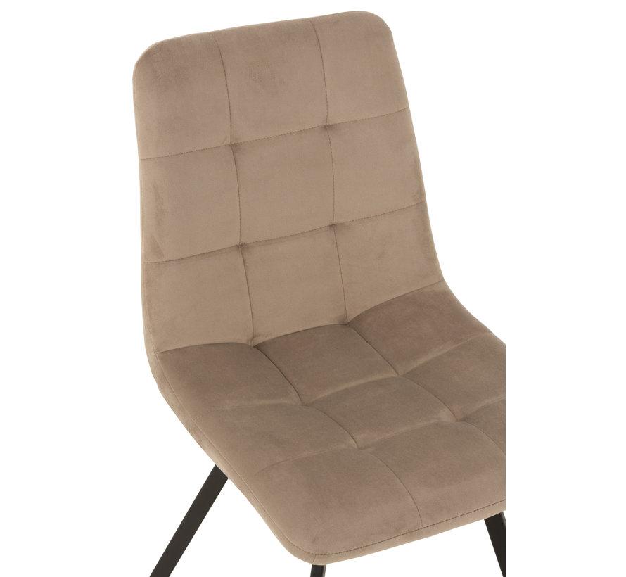 Dining chair Velvet Dark Beige