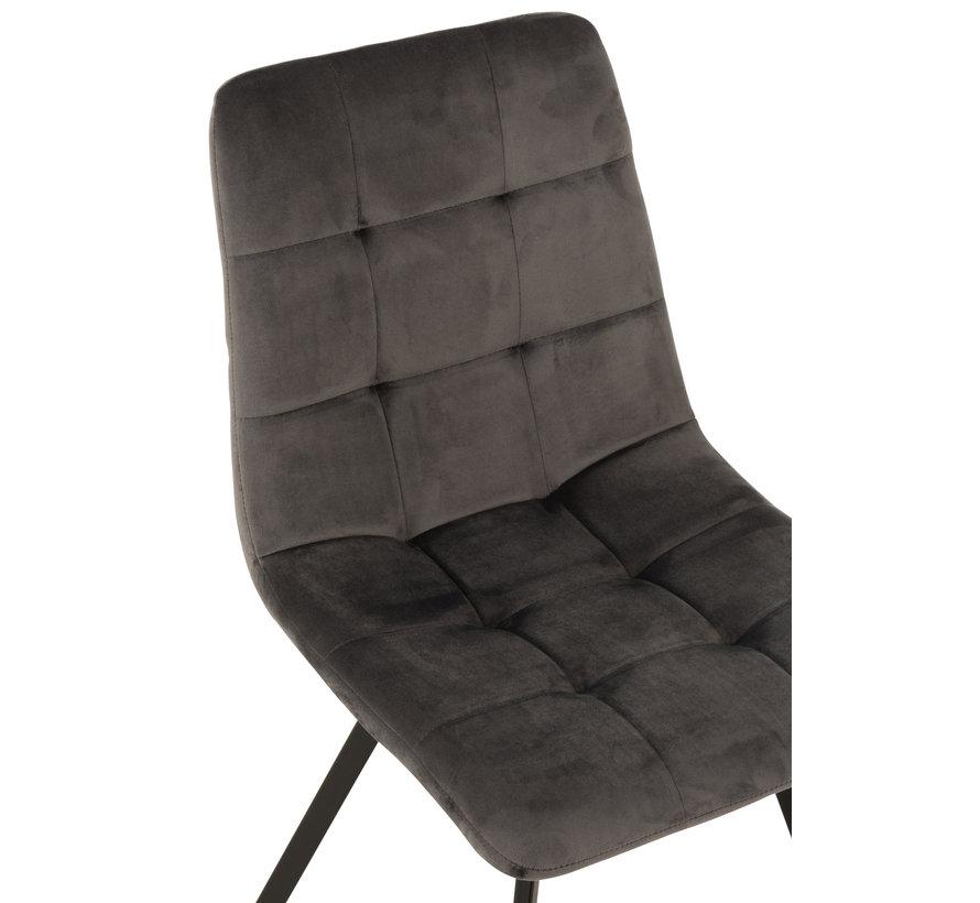 Dining chair Velvet Grey