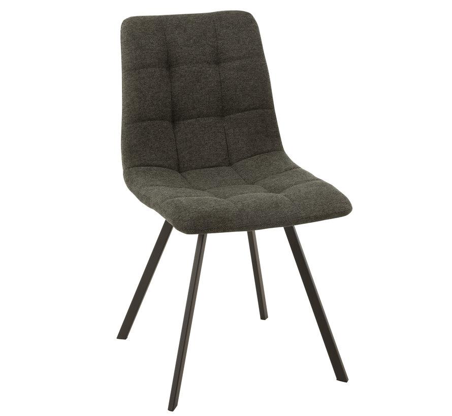 Dining chair Dark gray Textile