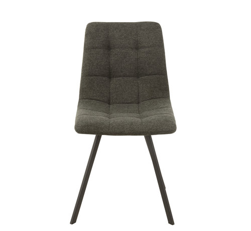 J-Line Dining chair Dark gray Textile
