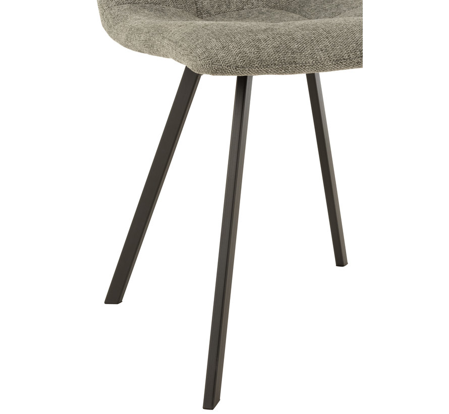 Dining chair Light gray Textile