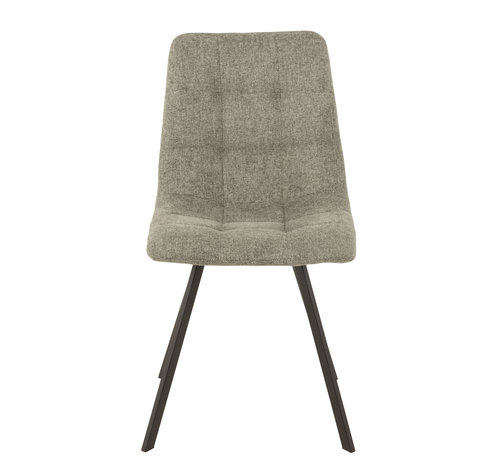 J-Line  Dining chair Light gray Textile