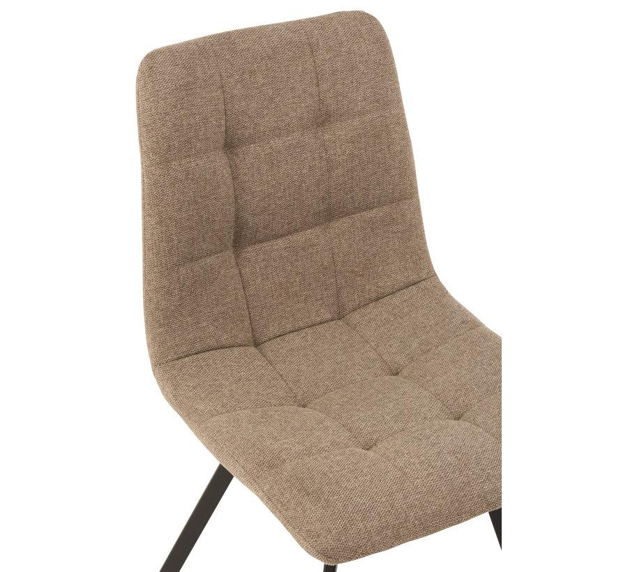 Dining Chair Dark Beige Textile
