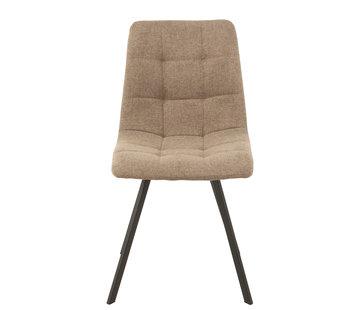 J-Line  Dining Chair Dark Beige Textile