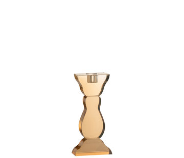 J-Line Candlestick Flat Amber Crystal
