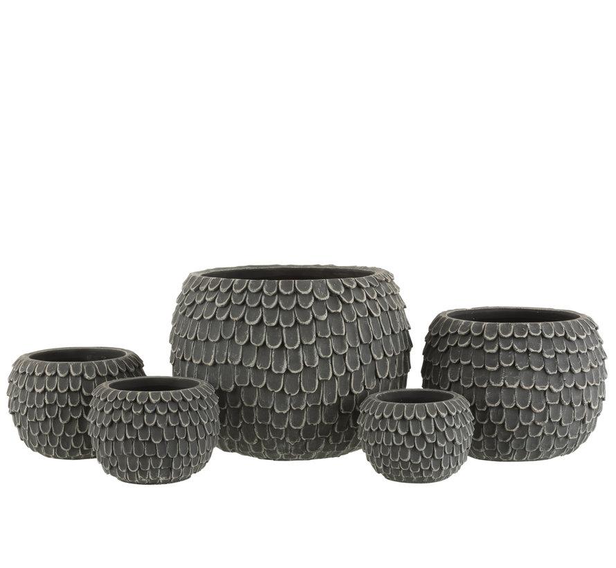 Bloempot Bladeren Cement Extra Large