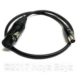 Noyz Boyz Cables XLR3F >TA3  0.5m