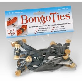 BongoTies Black Rubber A5-01