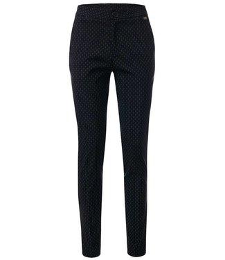 Fenja - Pantalon met gestreken vouwlijn en satijn piping