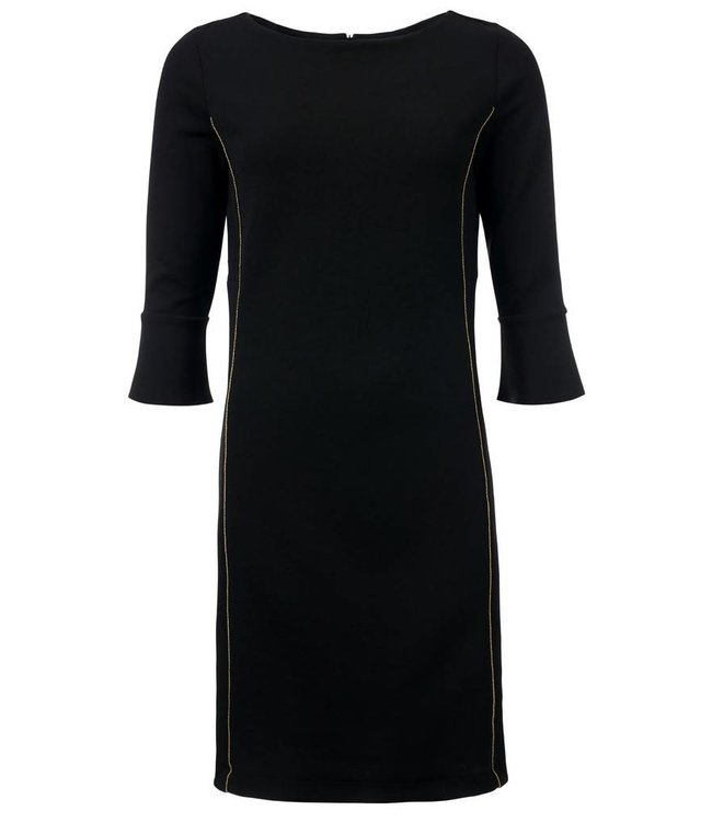 zwarte jurk 3 4 mouw