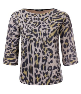 Thiffany - Geprinte animal 3/4 mouw top