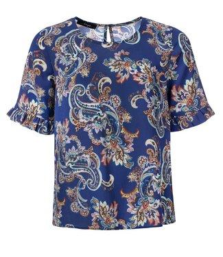 dayz Tabita - gewebstes Bluse in einem multi-lila bedruckter Stoff