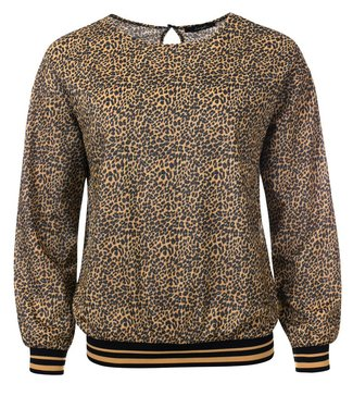 Tammy - Printed animal long sleeve sweater with tapes