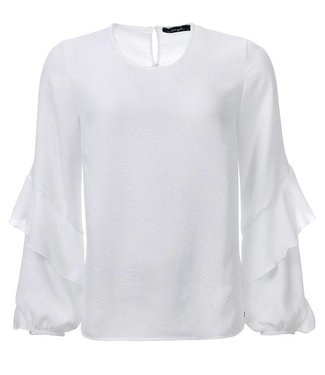 dayz Sascha - Offwhite top with ruffled sleeves