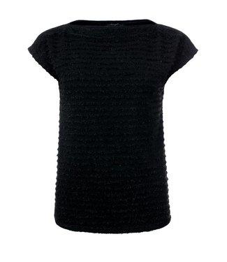 a96e4132b11813 Megan - Kanten top met korte mouwen in het zwart