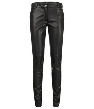Aurora - faux lederen broek in black