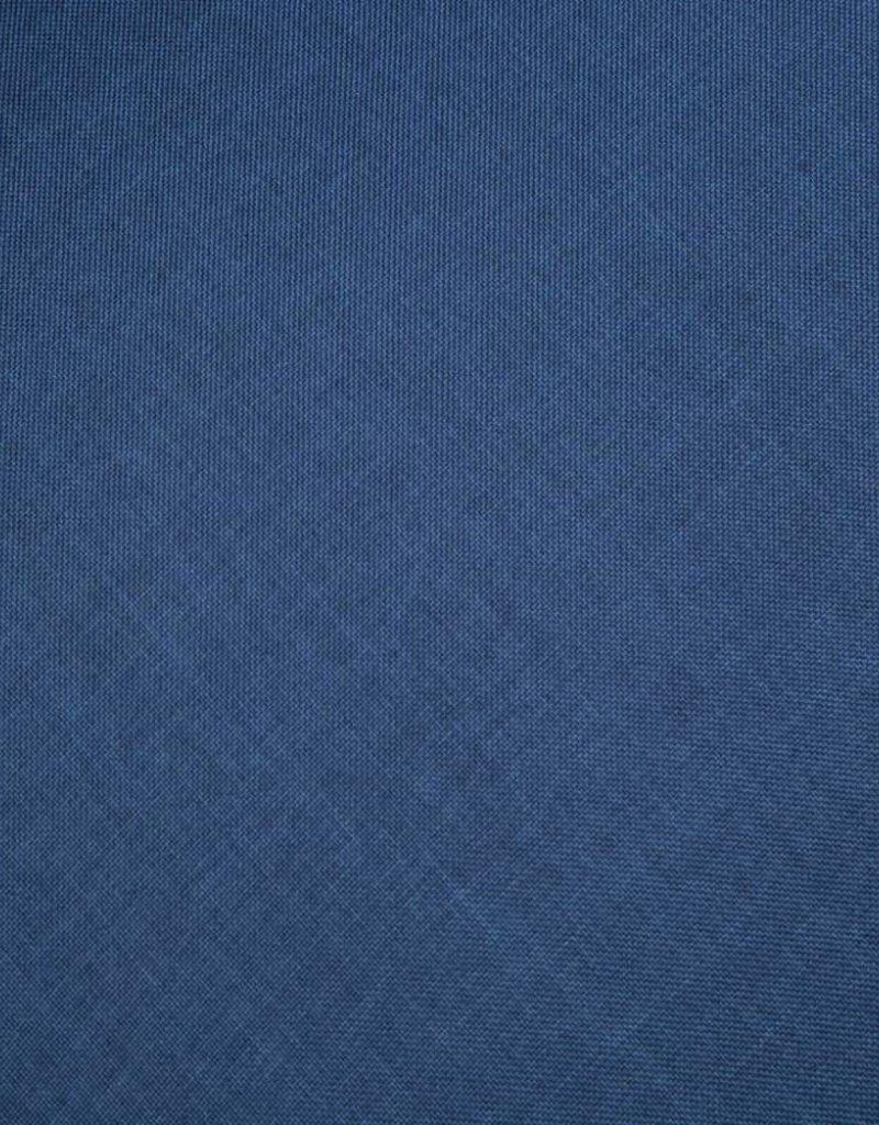 vidaXL Bankstel voor 3 personen stof blauw 2-delig