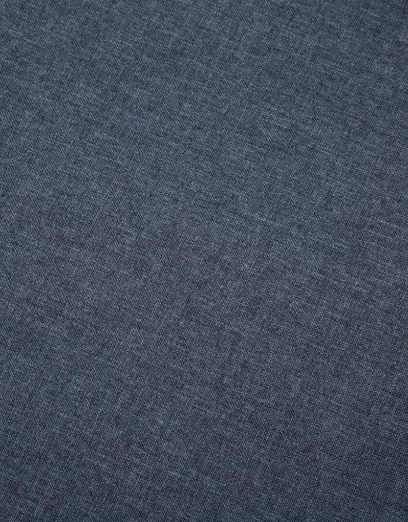 vidaXL Bank L-vormig 186x136x79 cm stoffen bekleding donkergrijs