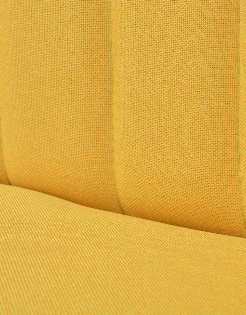 vidaXL Bank geel 117x55,5x77 cm stof