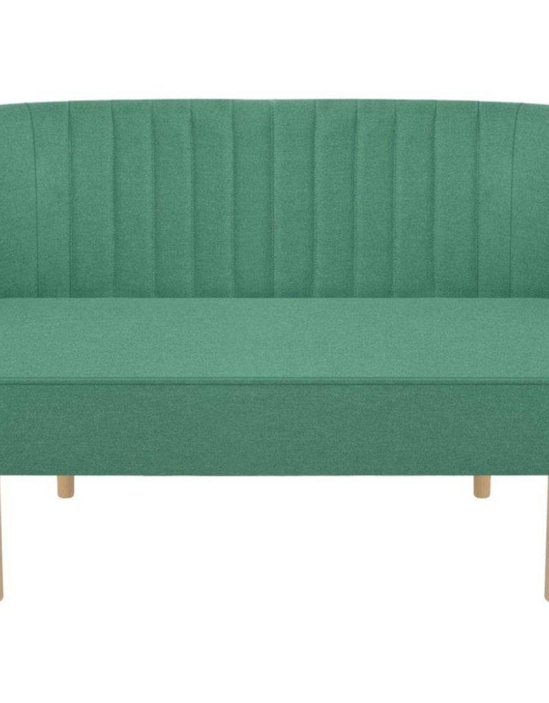 vidaXL Bank groen 117x55,5x77 cm stof