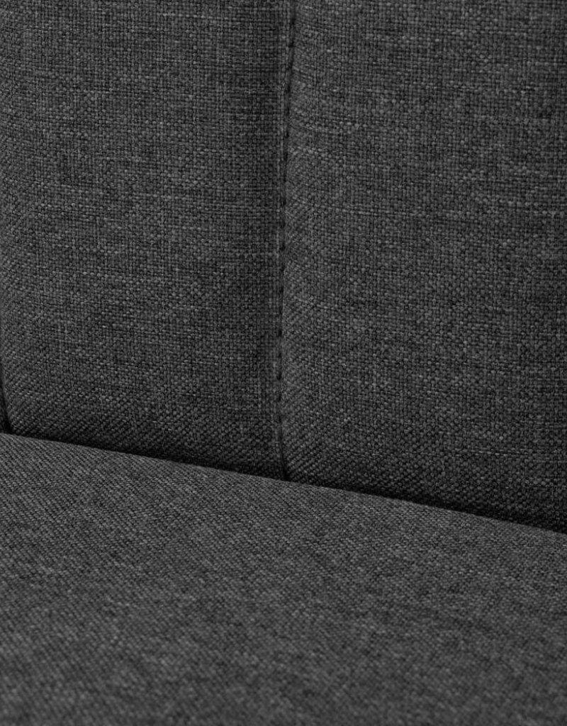 vidaXL Bank donkergrijs 117x55,5x77 cm stof