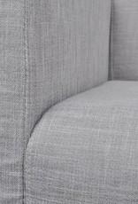 vidaXL Bank met gevoerde kussens stof rubberhout lichtgrijs