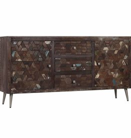 vidaXL Dressoir 160x40x80 cm massief gerecycled hout