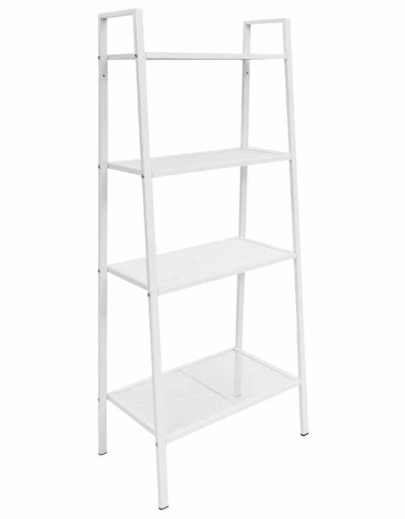 Super vidaXL Ladder boekenkast 4 schappen metaal wit - HomeLifeSecure.nl #OC19