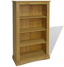 vidaXL Boekenkast grenenhout met 4 planken Corona-stijl 81x29x150 cm