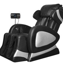 vidaXL Elektrische massagestoel met super screen kunstleer zwart