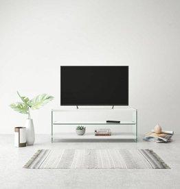 vidaXL Tv-meubel hoogglans glas MDF wit