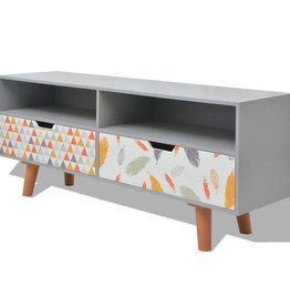 vidaXL Tv-meubel grijs 120x30x50 cm MDF