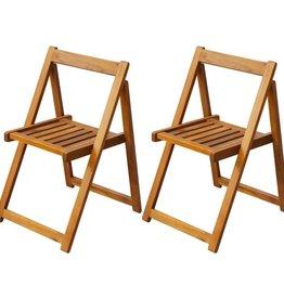 vidaXL Klapstoelen voor buiten acaciahout 2 st