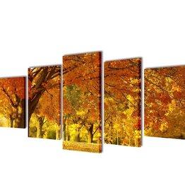 vidaXL Canvasdoeken esdoorn 200 x 100 cm