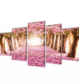 vidaXL Canvasdoeken kersenbloesem 200 x 100 cm