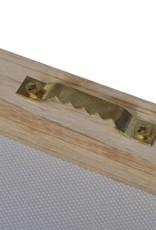 vidaXL Canvasdoeken zandstrand met hangmat 200 x 100 cm