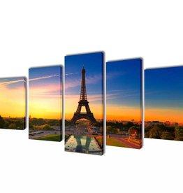 vidaXL Canvasdoeken Eiffeltoren 200 x 100 cm