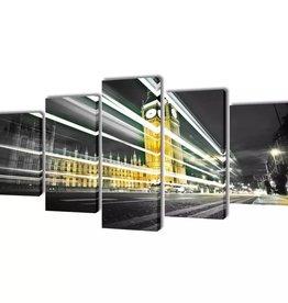 vidaXL Canvasdoeken Londen Big Ben 200 x 100 cm