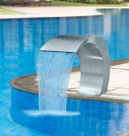vidaXL Waterval zwembadfontein 45x30x60 cm RVS