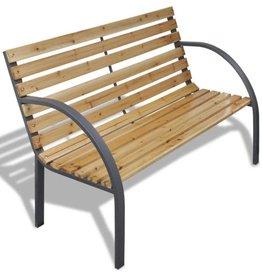 vidaXL Tuinbank modern ijzer en hout