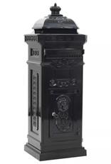 vidaXL Pilaar brievenbus vintage stijl roestbestendig aluminium zwart