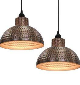 vidaXL Plafondlampen halve bolvorm koperkleurig 2 st