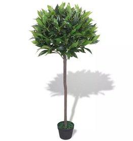 vidaXL Kunst laurierboom plant met pot 125 cm groen