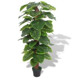 vidaXL Kunst taro plant met pot 145 cm groen