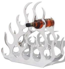 vidaXL Wijnrek voor 11 flessen aluminium zilverkleurig