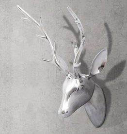 vidaXL Hertenkop voor aan de wand 62 cm zilverkleurig