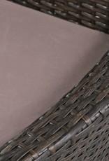 vidaXL Tuinset poly rattan en massief acaciahout 9-delig