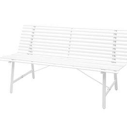 vidaXL Tuinbank staal 150x62x80 cm wit
