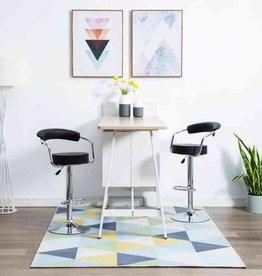 vidaXL Barstoelen draaibaar 52x51x106 cm kunstleer zwart 2 st