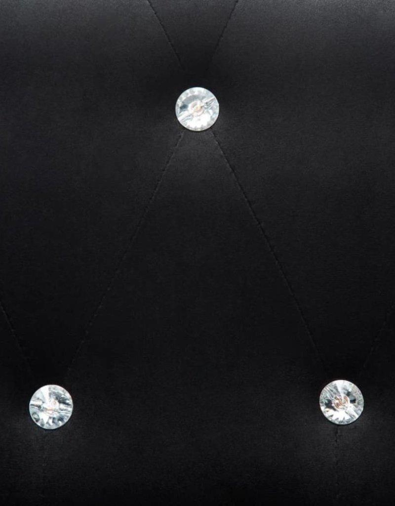 vidaXL Bank Chesterfield-stijl L-vormig 199x142x72 cm fluweel zwart